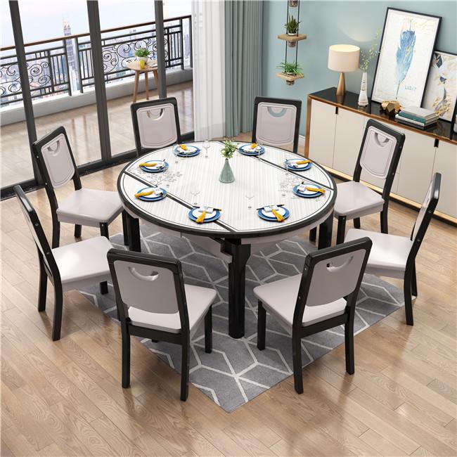 B10黑灰色圆桌
